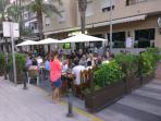 Restaurants throughout the town and Reina Sophia park.