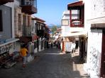 Typical picturesque street in Kalkan's old town