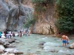 Exploring Saklikent Gorge is real fun. Don't miss it!