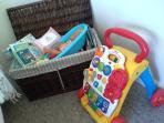 Children are welcome to use the toy box and play outside