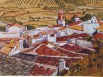 View of Jimena. Painting
