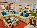 K507 Wailea Seashore Suite - The Stunningly Beautiful Great Room. Live Plants, Original Art, Hawaiiana Artifacts and...