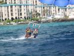 Parasail at the marina right outside your door