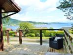 Stunning deck views of the Clyde Estuary and beyond.