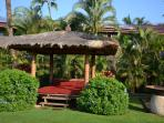 Relax in one of the cabanas