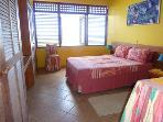 Master bedroom has kingsize bed and en-suite bathroom