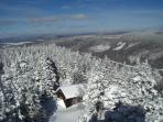 This is from the Firetower on top of Magollaway Mountain (largest mountain in your view)