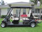 Our optional 6 passenger golf cart