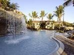 Resort Pool with Lazy River and Waterfall