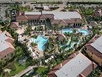 Overhead view of Resort Pool Area