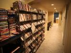 DVD Collection with over 1,000 DVD's also includes Netflix in the Theater