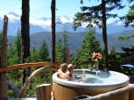 Hot tub, the view and your beloved. It doesn't get any better!