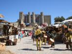 Obidos Castle during Medieval Festival