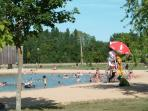 Montpon Park - free swimming!  In beautiful grounds with various activities