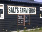 Local produce from Salts far shop just five minute drive....