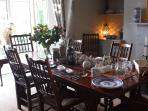 Dining room all set for breakfast