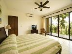 Master bedroom with beautiful views and private bathroom