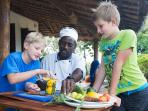 Matemwe Beach House - Chef with kids