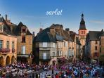 Lots of entertainment on in Sarlat during the summer.