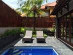 Beautiful Villa Taman - Pool and entertainment area