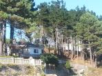 Vista de la casa desde la playa