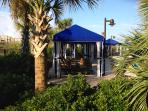 Guests can rent a private cabana for the day