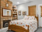 Second Bedroom with queen bed, full bath and single door to wrap-around deck