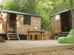 Secluded decking area