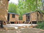 ALL 4 Shepherd Huts just for you - this is 1 complete unit