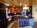 Everything You Need Is Provided In The Custom Kitchen Feat. Granite Counter Tops, Cherry Cabinets