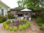 Side yard with Fountain