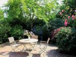 The private patio garden