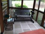 Screened Front Porch Entry