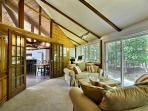 Back Living Room -overlooking the 300 acre Nature Reserve