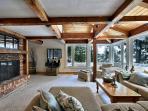 Living Room - Fireplace - Panoramic View overlooking Lake Muskoka