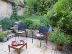 La terrasse côté jardin