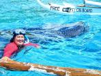 another pose with the whaleshark