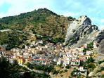 Castelmezzano is a characteristic village in the lucan Dolomites - Basilicata South Italy-Sud Italia
