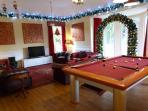 Family room decorated for festive season (December short breaks and Christmas / Hogmanay weeks)