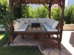 Poolside seating area/shade
