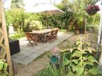 Garden view - perfect for relaxing and the cheeky glass or two!