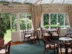 Conservatory in hotel for drinks and informal dining