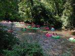 Tubing on the Chattahoochee River in Helen