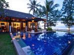 Sunset over the villa