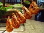 Churascaria with shrimps