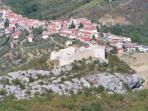 Serramonacesca overlooked by Castel Menado