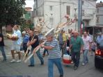 Festa celebrations in the village