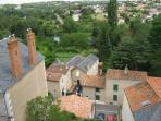 view from the château in Thouars