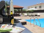Private pool with luxury furnishings and facilities.