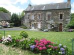 Traditional Breton stone built countryside village property